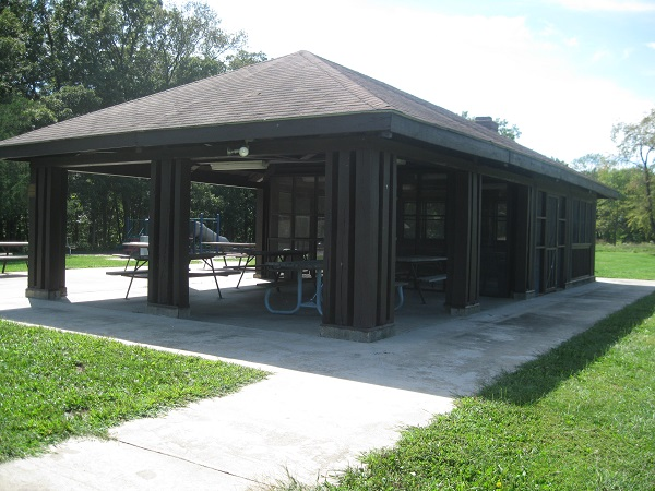 exterior of picnic shelter