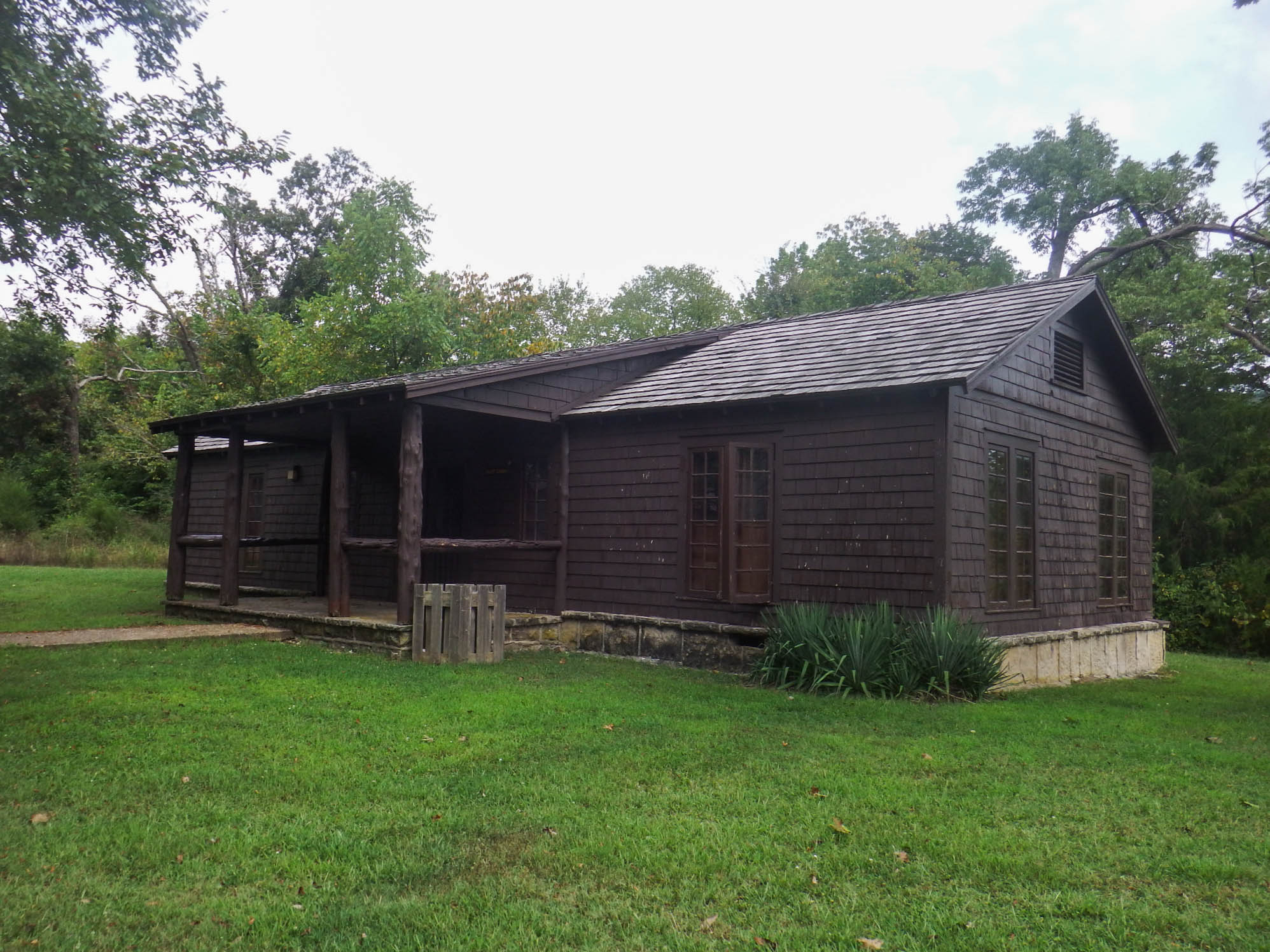 exterior of staff cabin