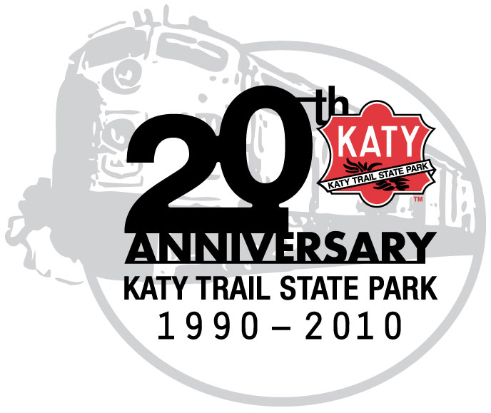 Katy Trail 20th Anniversary Logo.