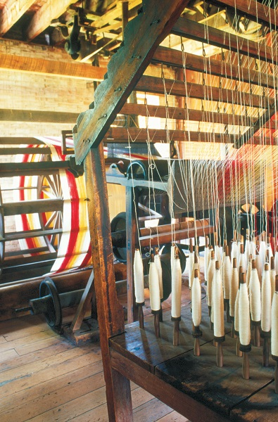 A loom inside Watkins Mill